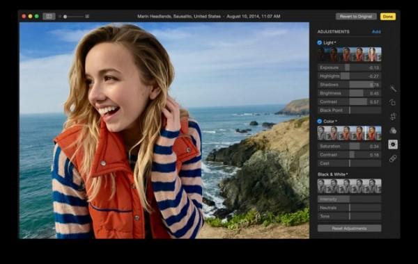 "OS X Yosemite 10.10.3 全新""照片""应用-编辑页面"