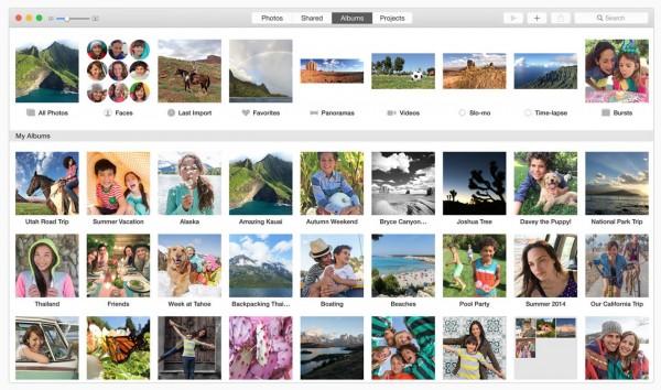 "专辑页面-OS X Yosemite 10.10.3 全新""照片""应用"